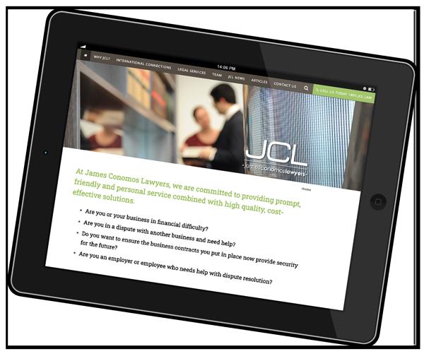 JCL Website iPad